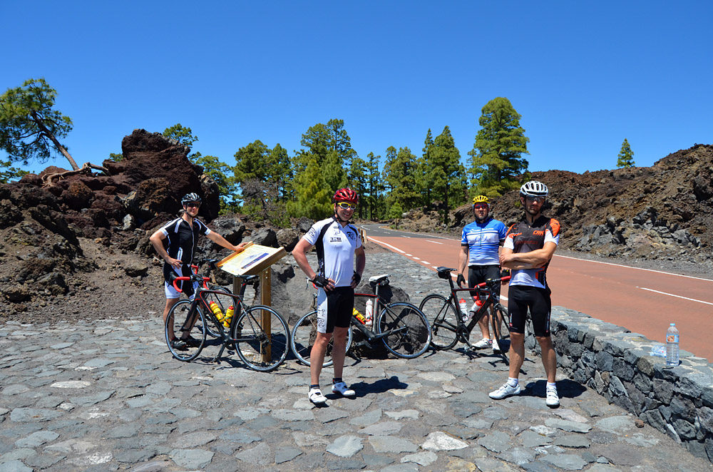 Road Bikers At Teide